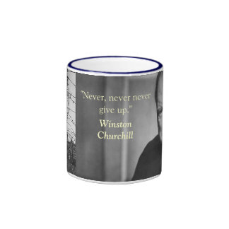 churchill quote ringer mug