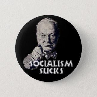 Churchill Quote: Socialism Sucks! 2 Inch Round Button