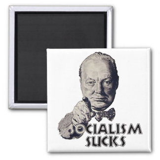 Churchill Quote: Socialism Sucks! Magnet