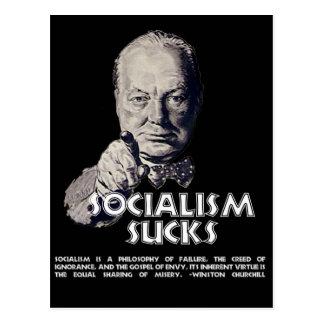 Churchill Quote:  Socialism Sucks! Post Cards