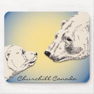 Churchill Souvenir Mousepad Polar Bear Art Gifts