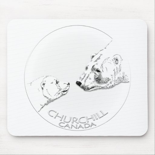 Churchill Souvenirs Polar Bear Art Shirts & Gifts Mousepad