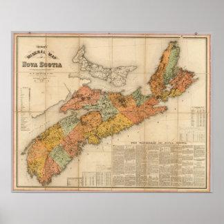 Church's mineral map of Nova Scotia Poster
