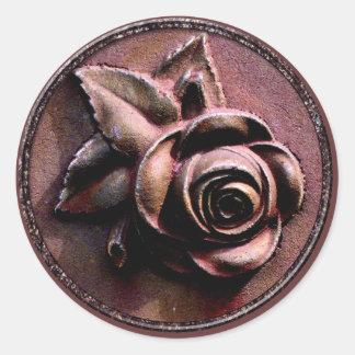 Churchyard Rose Classic Round Sticker