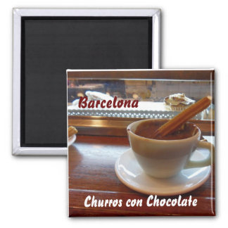 Churros con Chocolate, Barcelona Magnet