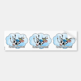 chute happens scrapbook stickers bumper sticker