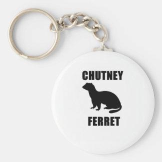 Chutney Ferret Basic Round Button Keychain