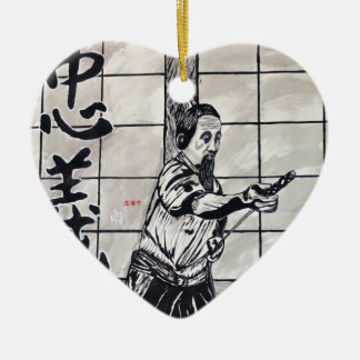 Chuugi Duty and Loyalty by Carter L Shepard Ceramic Ornament