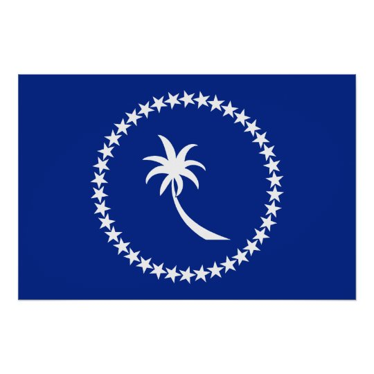 Chuuk, Micronesia flag Poster