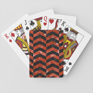CHV2 BK-RD MARBLE PLAYING CARDS