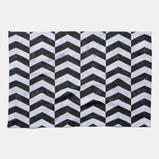 CHV2 BK-WH MARBLE HAND TOWELS