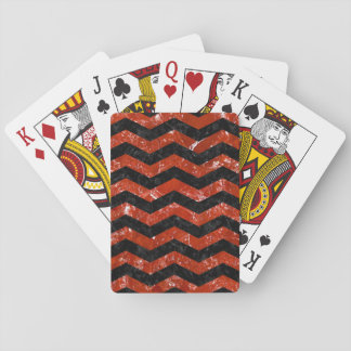 CHV3 BK-RD MARBLE PLAYING CARDS