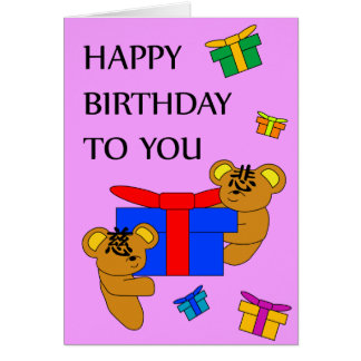 CI BEAR BIRTHDAY CARD