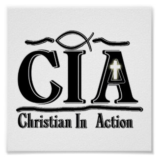 CIA CHRISTIAN IN ACTION ACRONYM POSTER