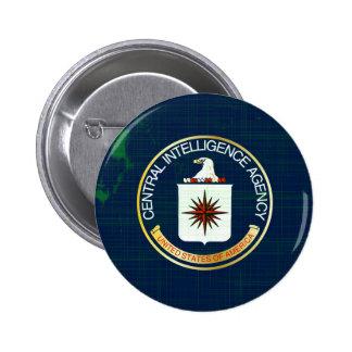 CIA Flag Grunge 2 Inch Round Button