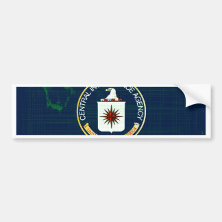 CIA Flag Grunge Bumper Sticker