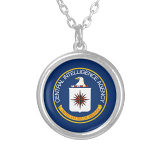 CIA Flag Silver Plated Necklace
