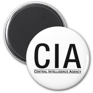 CIA Initials + Central Inteligence Agency Text Fridge Magnet