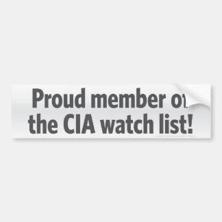 CIA Watch List Bumper Sticker