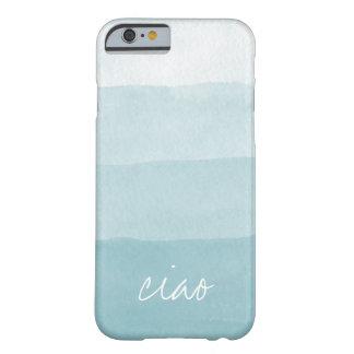 Ciao Aqua Watercolor Gradient Stripe Barely There iPhone 6 Case