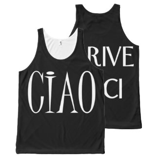 Ciao, Arrivederci All-Over-Print Tank Top