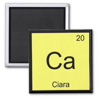 Ciara Name Chemistry Element Periodic Table Square Magnet