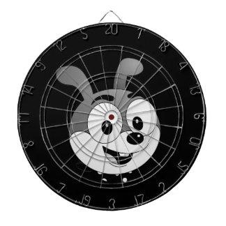 Cible classique de noir de lapin de bande dessinée jeux de fléchettes