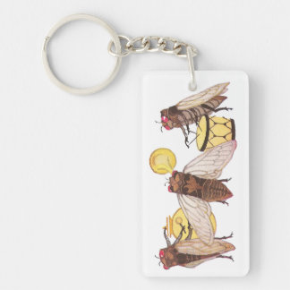 Cicada Band with Gong, Trumpet and Drum Keychain