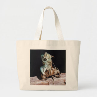 Cicada Emerging from Shell Large Tote Bag