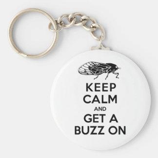 Cicadas - Keep Calm and Get a Buzz On - Magicicada Keychain
