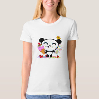 Cici Panda Loves Ice Cream Cones with Sprinkles T-Shirt