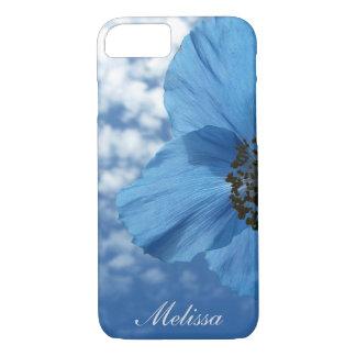 Ciel bleu de fleur de pavot bleu de jardin avec le coque iPhone 7