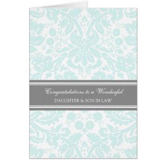 Ciel de félicitations de mariage de fille et de carte de vœux