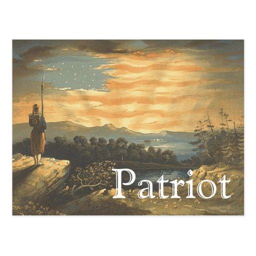 Ciel patriotique de PIÈCE EN T Carte Postale