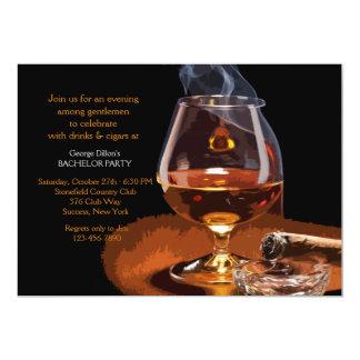"Cigar and Brandy Invitation 5"" X 7"" Invitation Card"