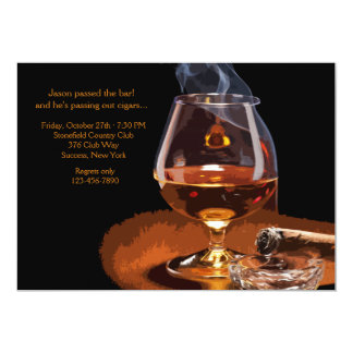 "Cigar and Brandy Invitation 5"" X 7"" Invitation Card"