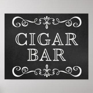 Cigar Bar Chalkboard Wedding Sign