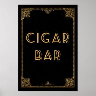 CIGAR bar  Gatsby inspired wedding sign Print