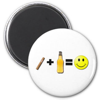 Cigar + Beer = Happiness Magnet