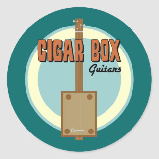 Cigar Box Guitar Classic Round Sticker