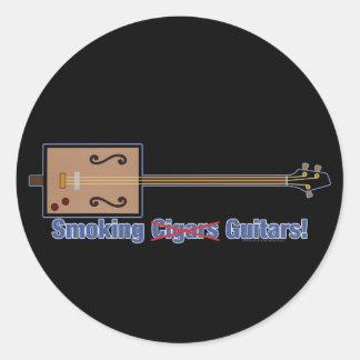 Cigar Box Smoking Guitars Round Sticker