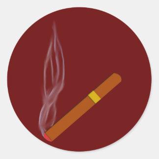 Cigar cigar classic round sticker