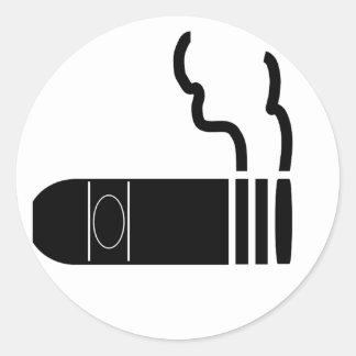Cigar Classic Round Sticker