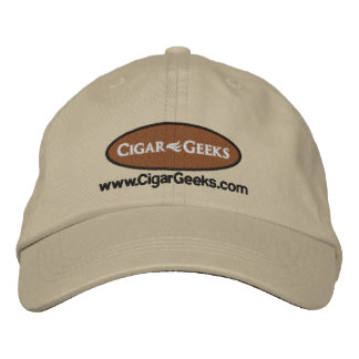 Cigar Geeks Embroidered Cap with Logo and Address Embroidered Hats