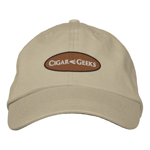Cigar Geeks Embroidered Cap with Oval Logo Embroidered Hats
