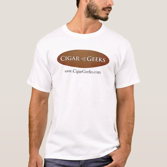 Cigar Geeks T-Shirt with Oval Logo and Address
