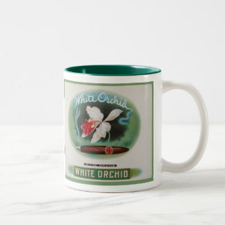 Cigar Label Vintage Two-Tone Coffee Mug