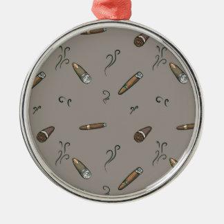 Cigar Pattern Metal Ornament
