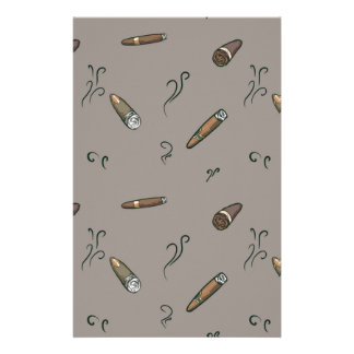 Cigar Pattern Stationery