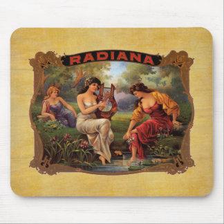 Cigar Radiana Vintage Tobacco Label Mouse Pad